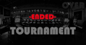Green Bay pinball tournament ended. Final results and standings posted.
