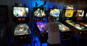 9-15-18: September Open Division A final round on TRON pinball (Chris Matte).