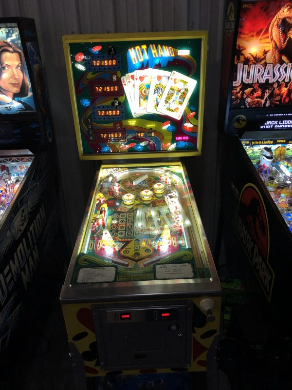 Hot Hand Pinball Machine in Green Bay, WI