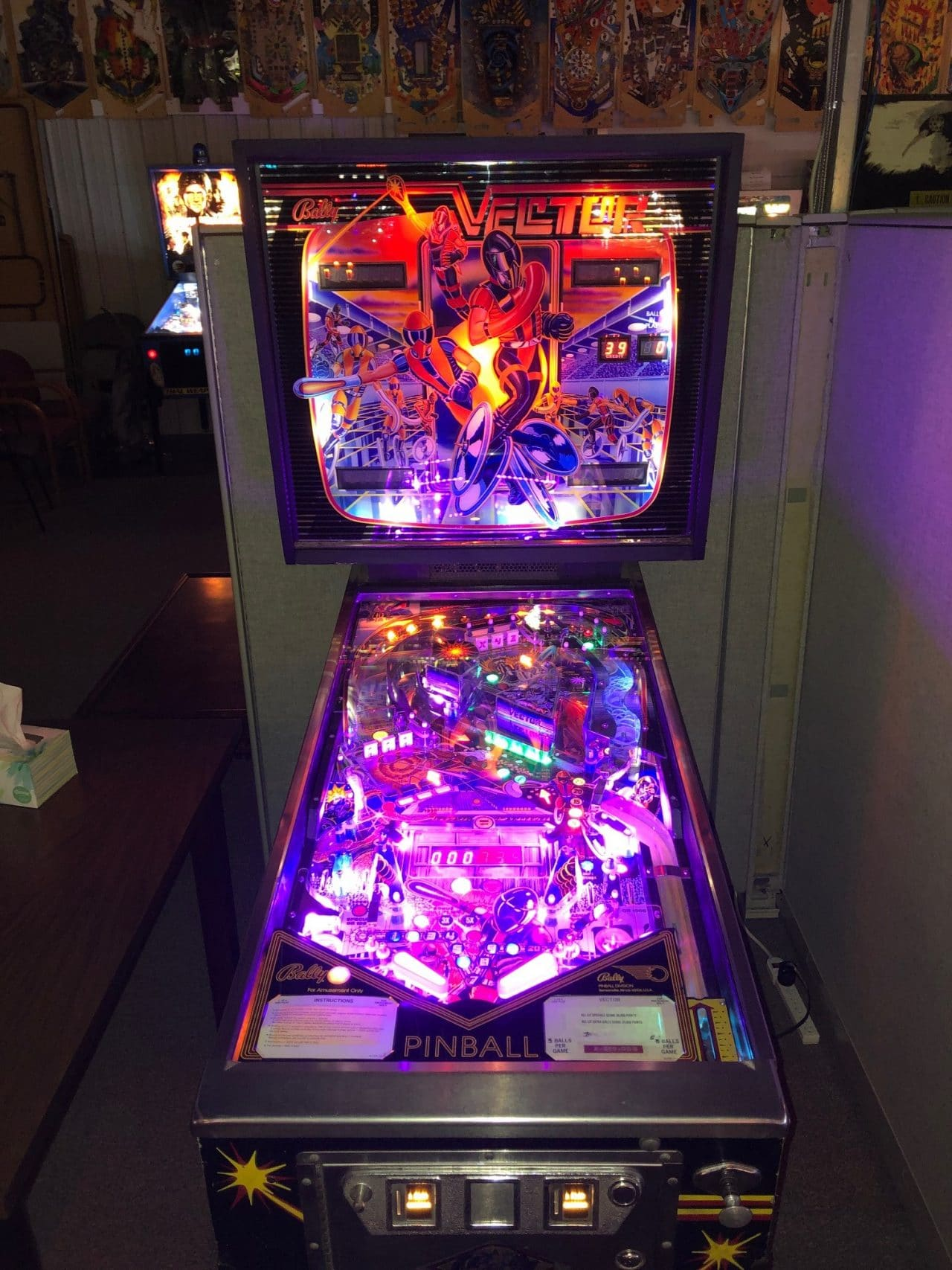 Vector Pinball Machine in Green Bay, WI
