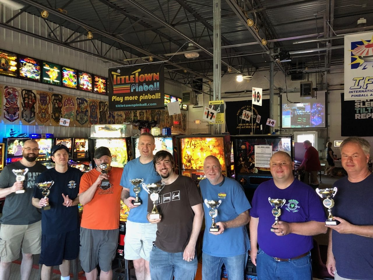 2019 Pinball Pingolf Tournament Winners Green Bay, WI