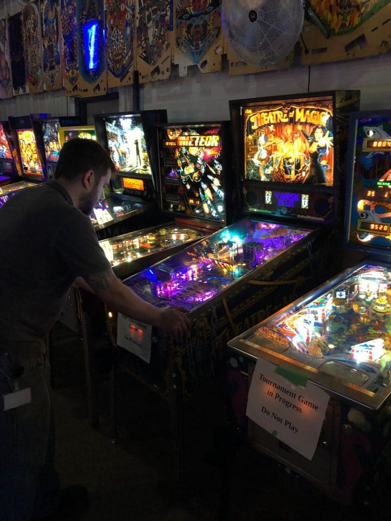 Playing Theatre of Magic TOM Pinball in Green Bay, WI