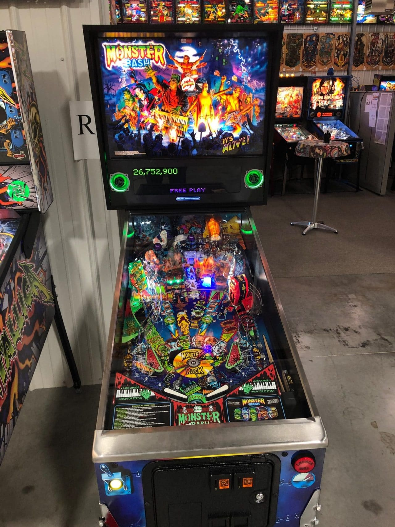 Monster Bash Pinball Machine in Green Bay, WI