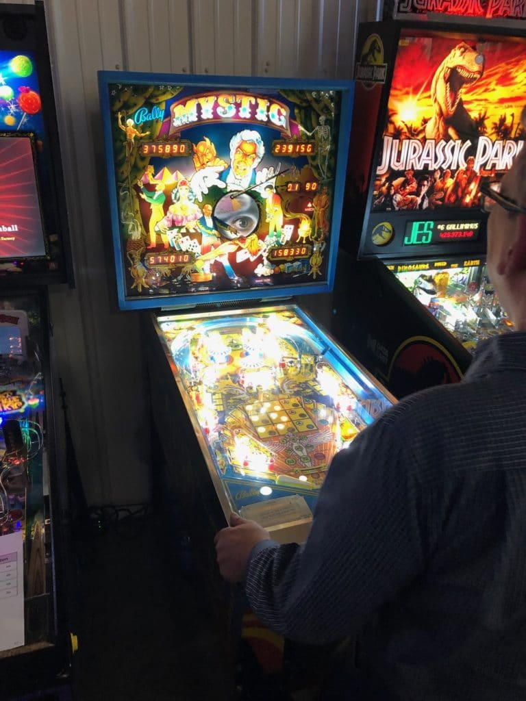Playing Mystic Pinball Machine in Green Bay, WI