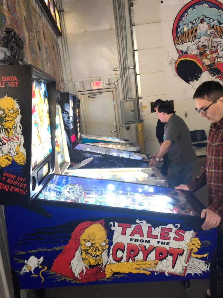 Playing Tales from the Crypt Pinball Machine in Green Bay, WI