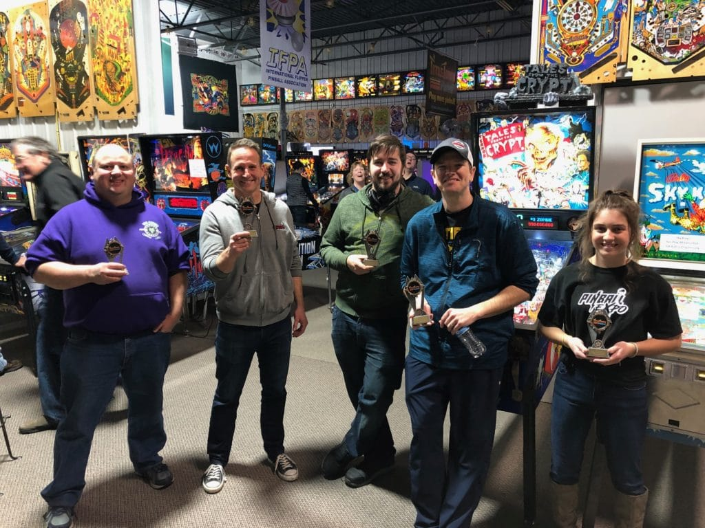 November 2019 Pinball League Winners Green Bay, WI.