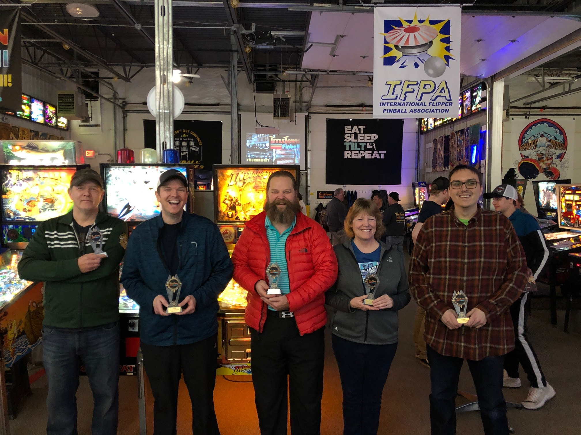 December 2019 Pinball League Top 5 Green Bay, WI