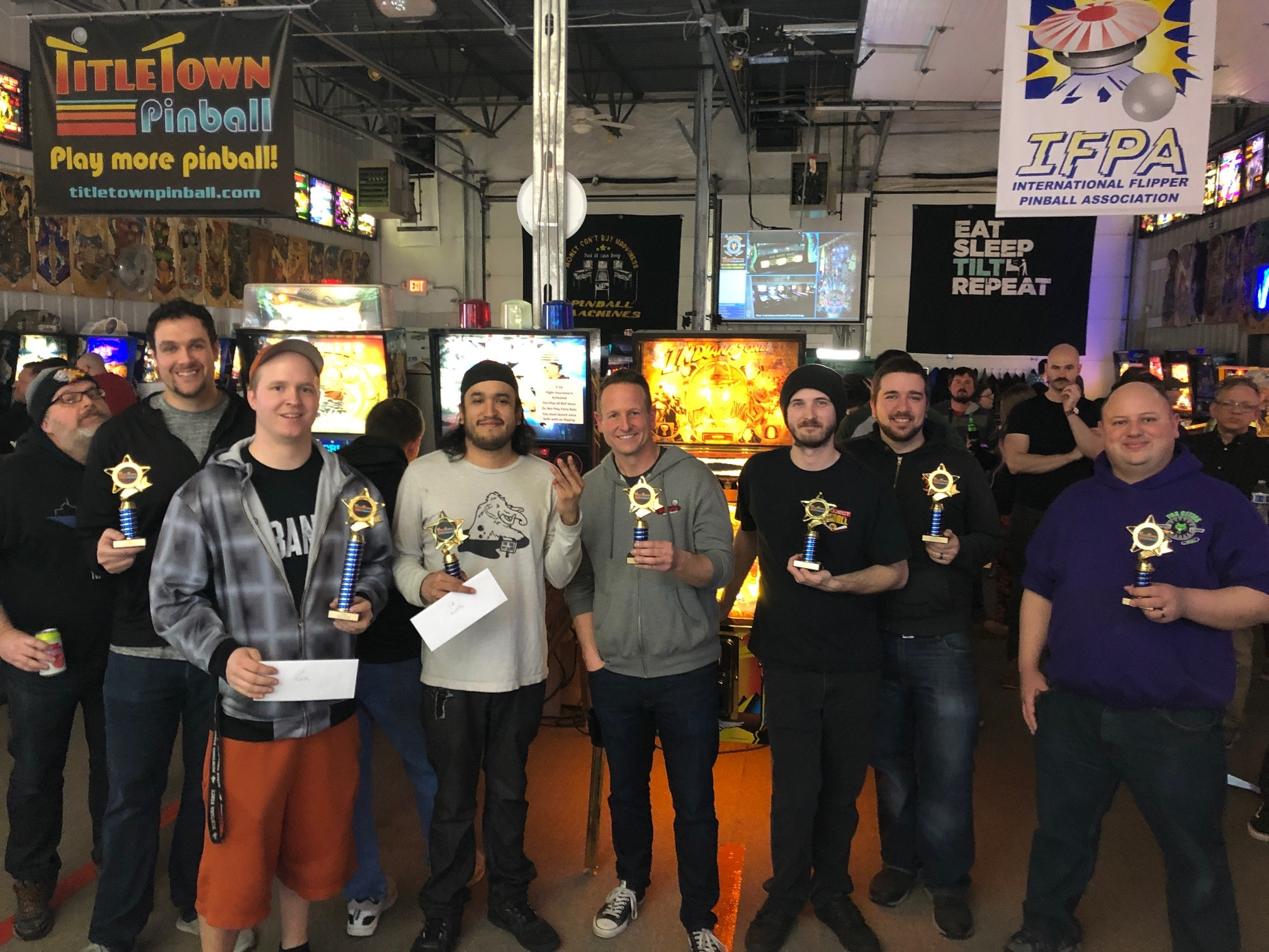 Winter 2X Pinball Tournament Winners Green Bay, WI.