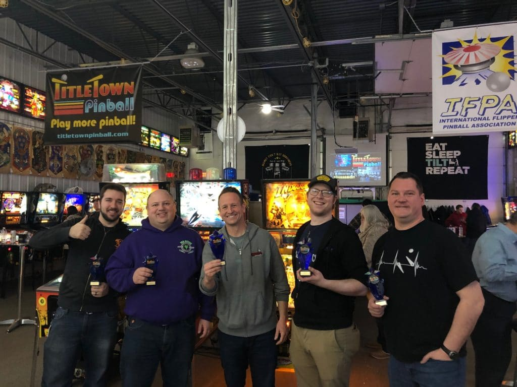 Feb District 82 Pinball League Winners