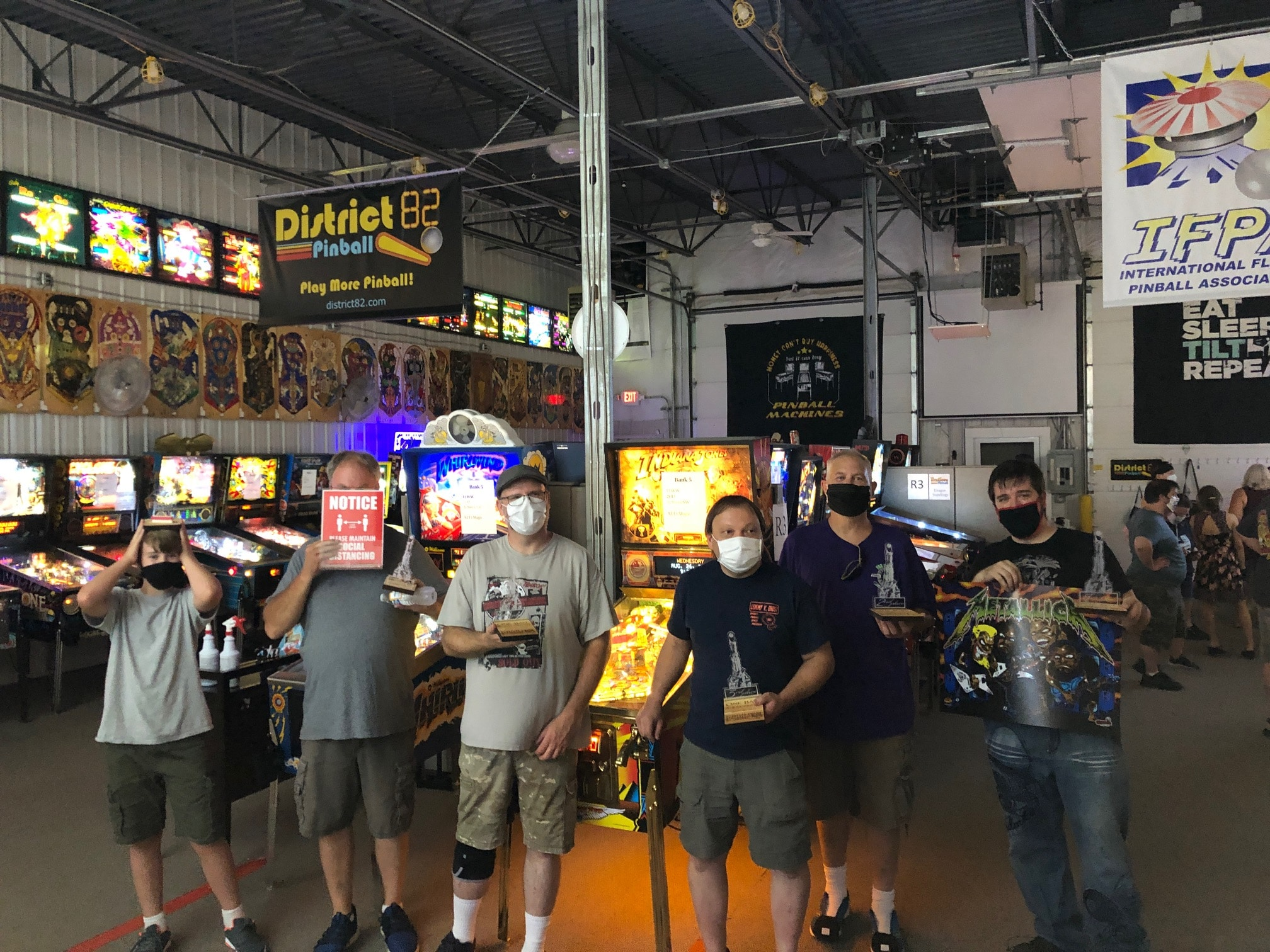 One Ball Pinball Tournament Top 5 Players Green Bay, WI