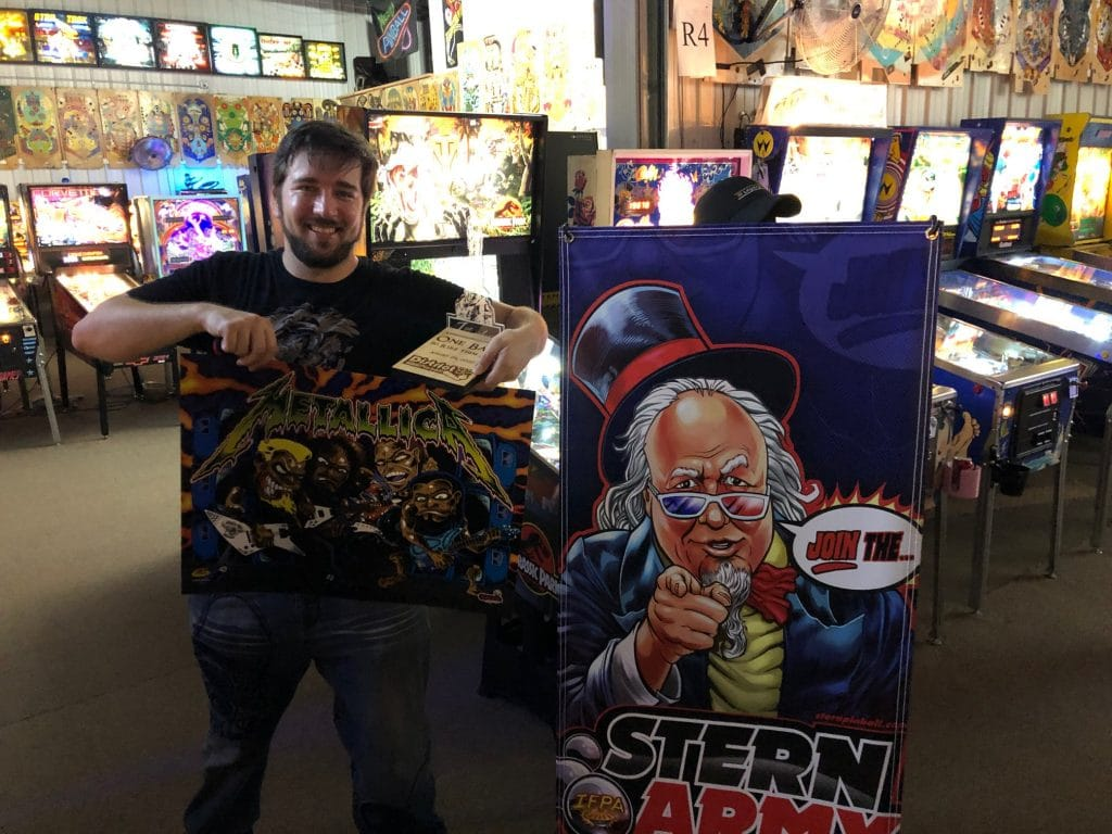 One Ball Pinball Tournament Winner Stern Army Green Bay, WI