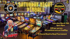Saturday Night Pinball Tournament Green Bay, WI
