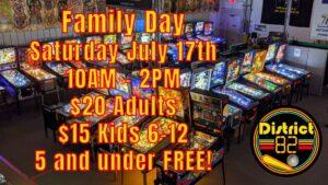 family pinball machine green bay Wisconsin